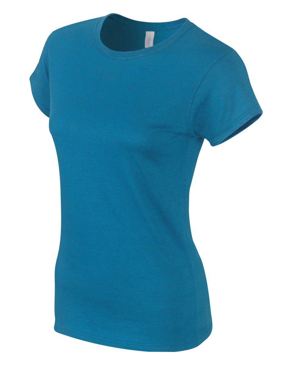 Gildan-Womens-Ladies-Soft-Style-Plain-V-Neck-T-Shirt-Cotton-Tee-Tshirt thumbnail 26