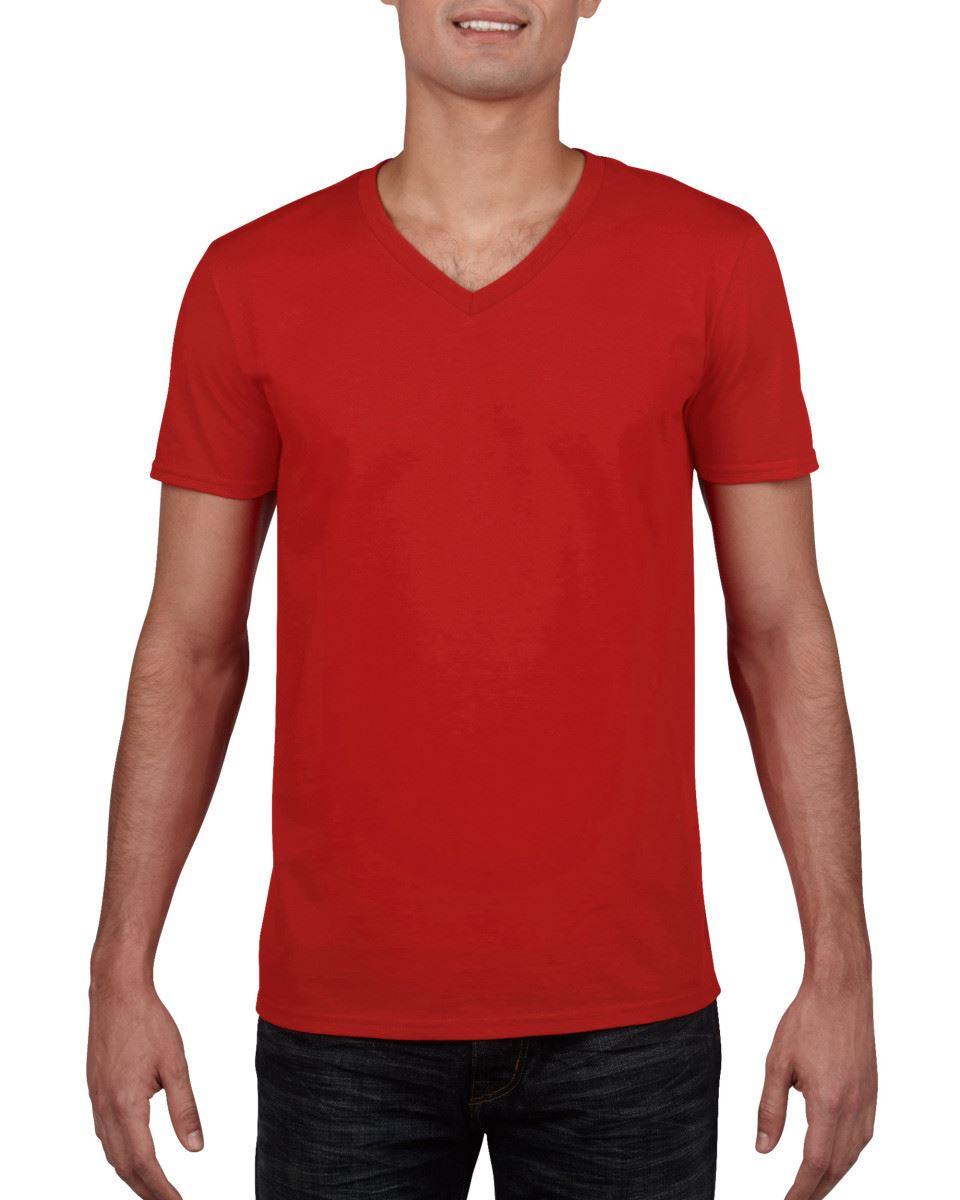 GILDAN-da-uomo-MEN-039-S-SOFT-STYLE-Plain-V-Neck-T-SHIRT-COTTON-TEE-T-shirt miniatura 48