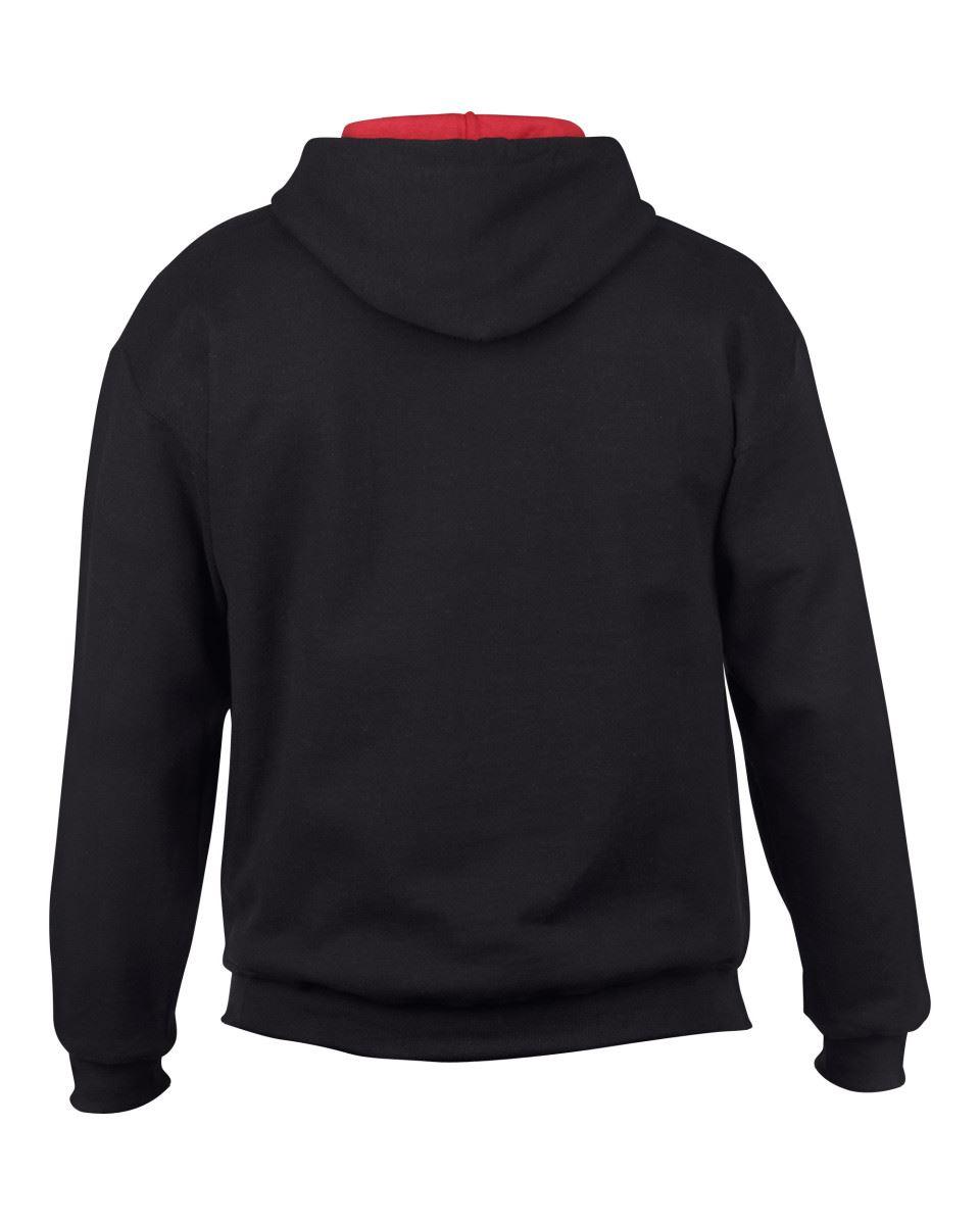 Gildan-Heavy-Blend-Plain-Contrast-Hooded-Sweatshirt-Hoodie-Sweat-Hoody-Jumper thumbnail 4