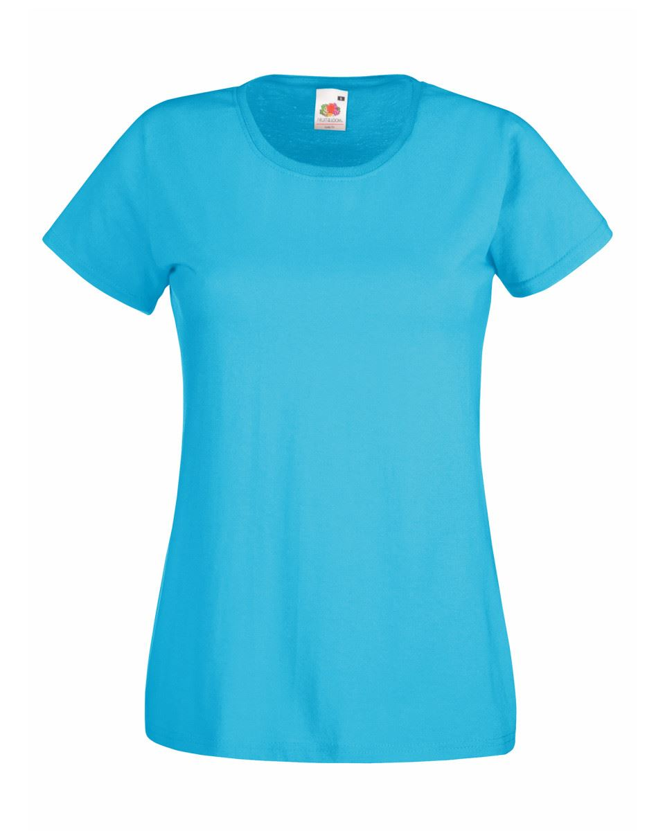 Fruit-of-the-Loom-Womens-Lady-Fit-T-Shirt-Valueweight-Plain-Blank-T-Shirt-Top thumbnail 2
