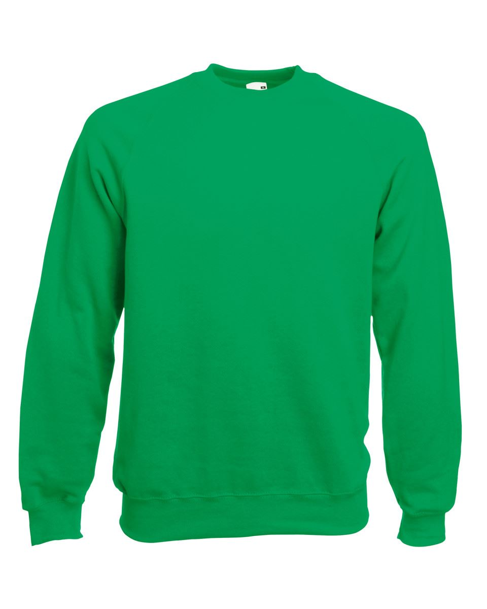 Mens-Sweatshirt-Fruit-Of-The-Loom-Raglan-Sweat-Pullover-Plain-Top-Jumper-Sweater thumbnail 24