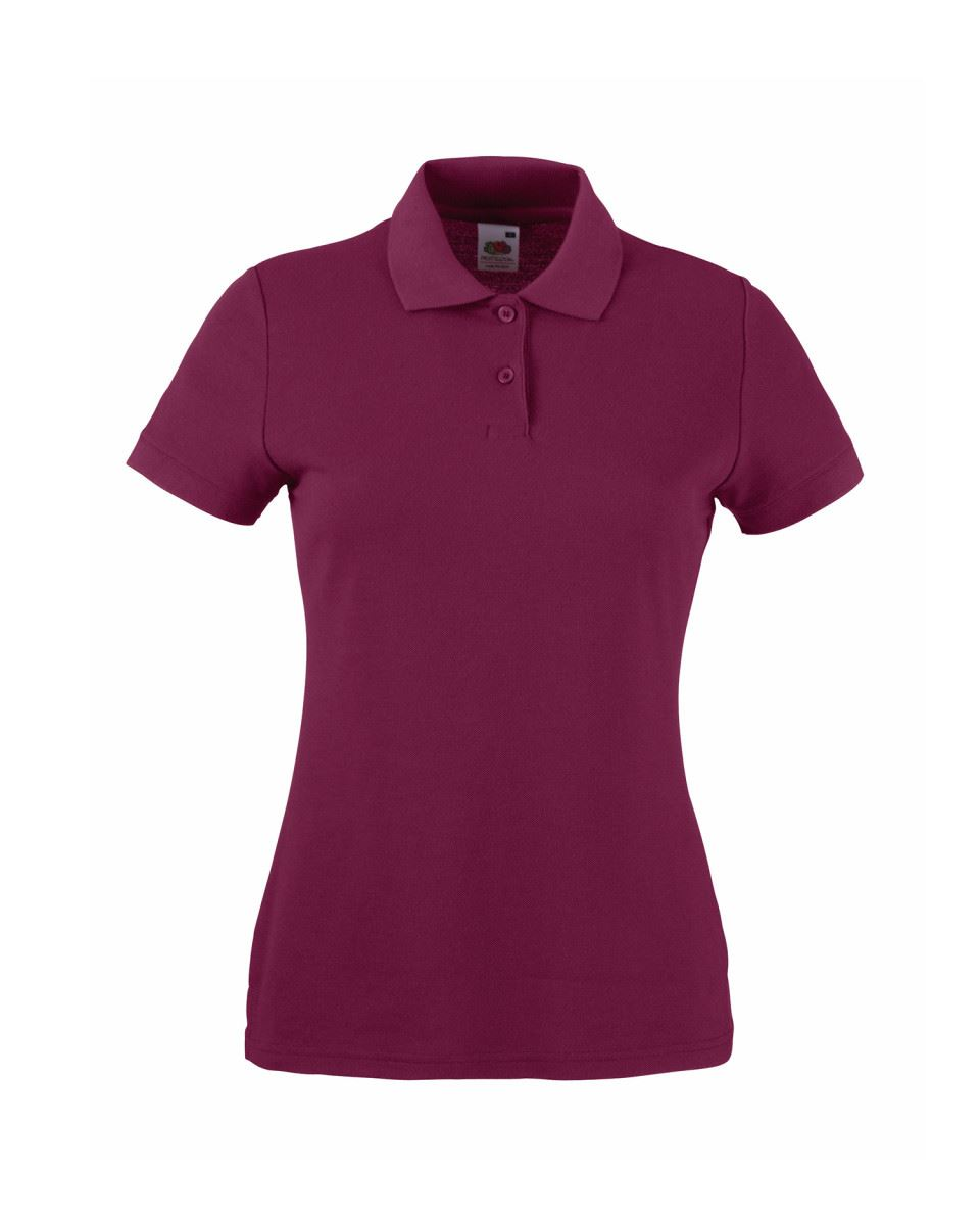 Fruit-Of-The-Loom-Ladies-Lady-Fit-Premium-Pique-Cadat-Collar-Polo-Shirts-T-shirt thumbnail 6