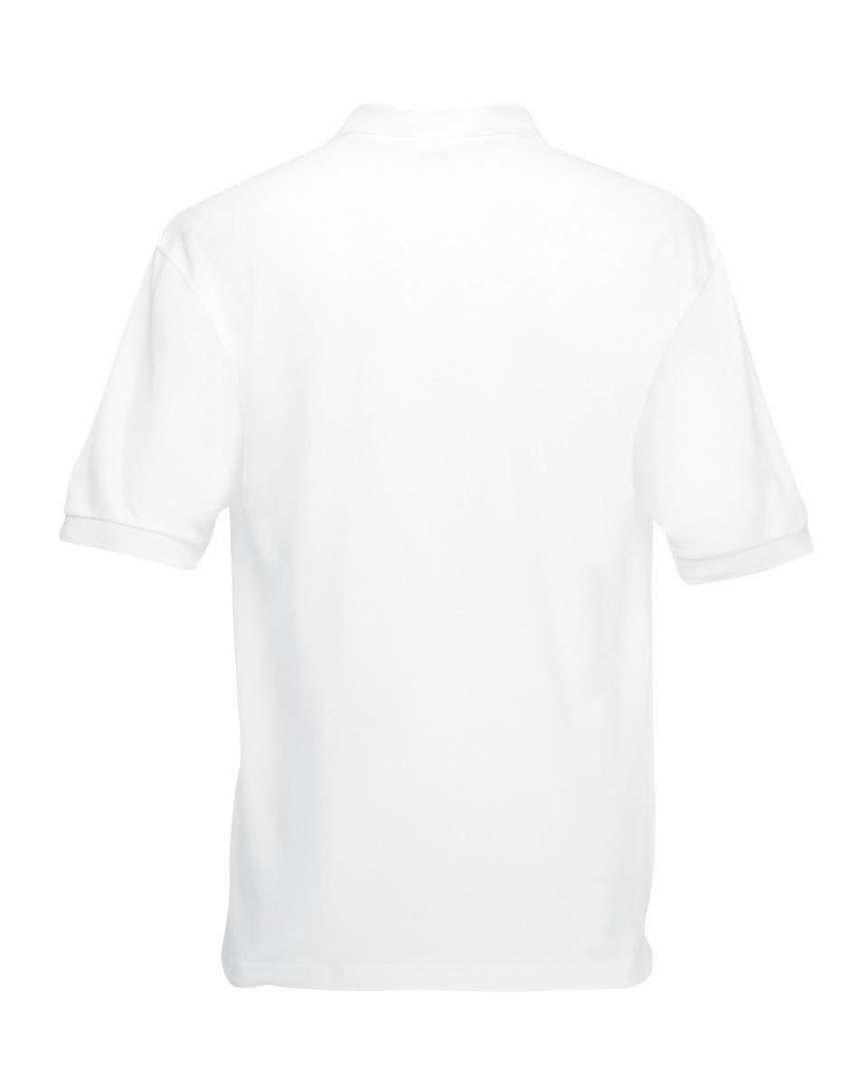 Mens-Polo-Shirts-Fruit-of-the-Loom-Premium-Polo-100-Cotton-Polo-Shirt-SS255 thumbnail 3