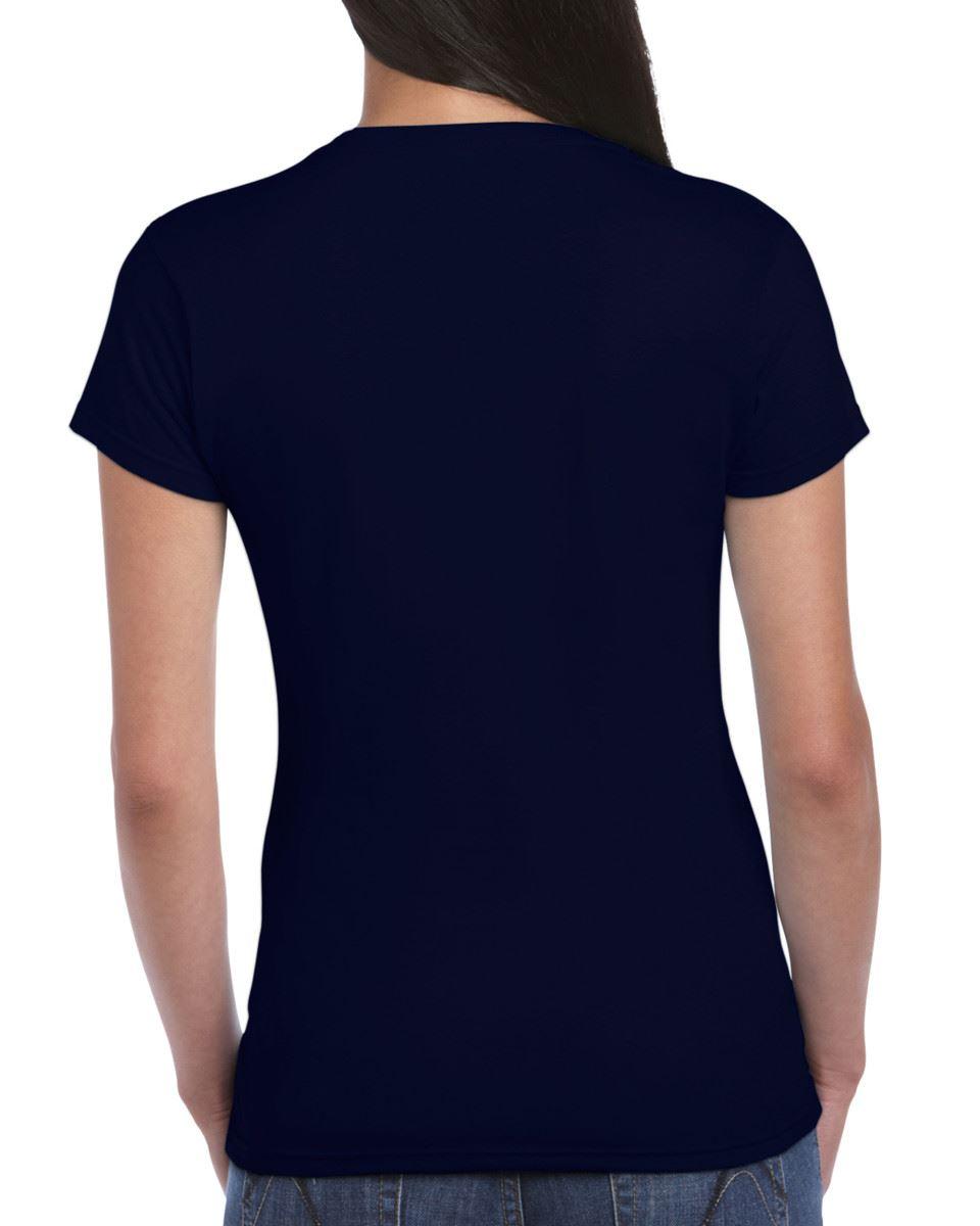 Gildan-Womens-Ladies-Soft-Style-Plain-V-Neck-T-Shirt-Cotton-Tee-Tshirt thumbnail 112