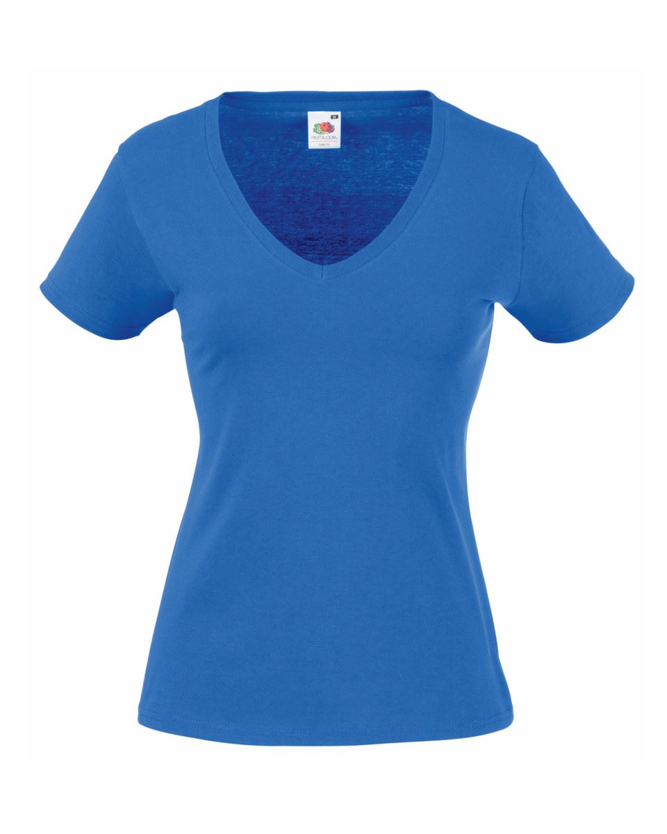 Fruit-Of-The-Loom-LADIES-T-SHIRT-V-NECK-LADY-FIT-COTTON-LYCRA-TOP-TEE-XS-2XL thumbnail 18