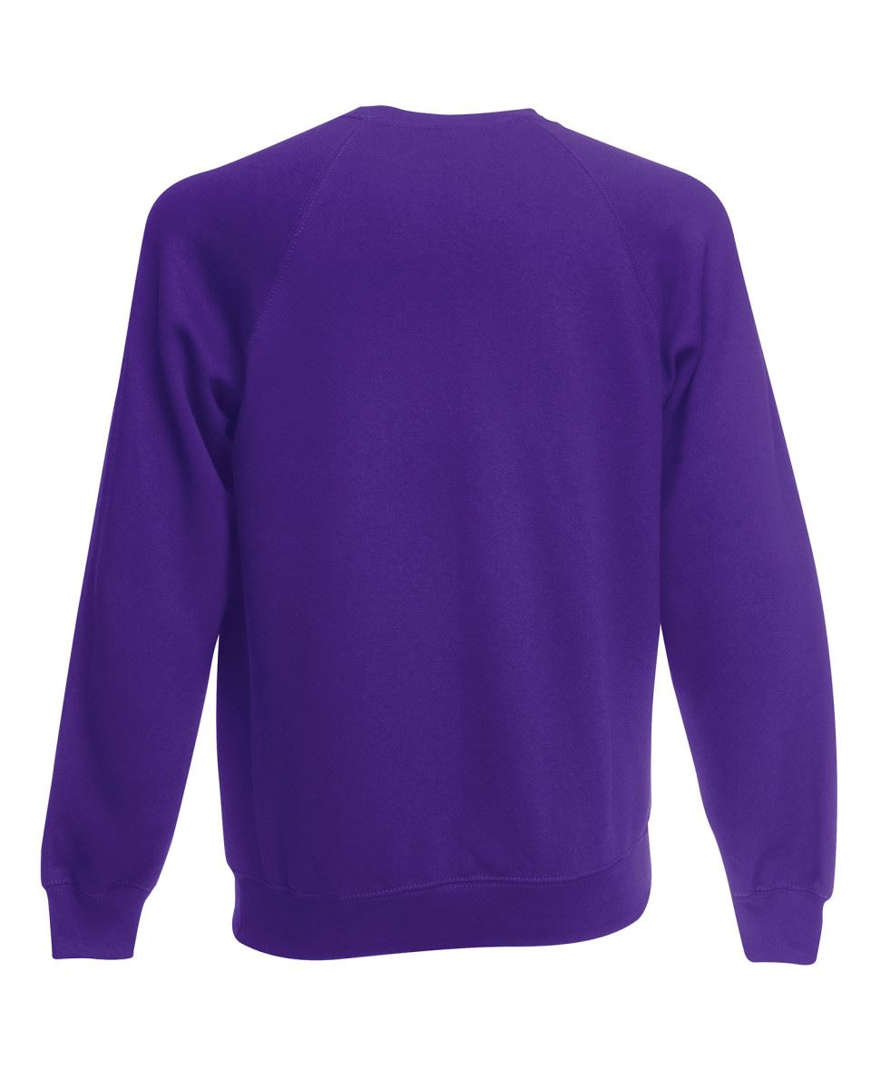 Mens-Sweatshirt-Fruit-Of-The-Loom-Raglan-Sweat-Pullover-Plain-Top-Jumper-Sweater thumbnail 27