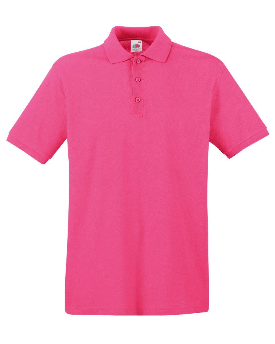 Mens-Polo-Shirts-Fruit-of-the-Loom-Premium-Polo-100-Cotton-Polo-Shirt-SS255 thumbnail 18