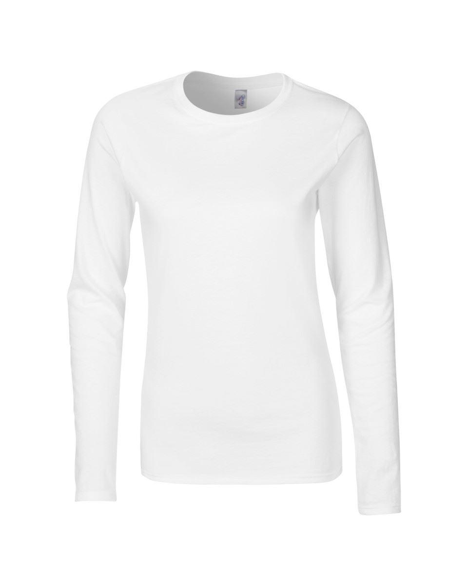 GILDAN-softsyle-Femmes-T-shirt-homme-a-manches-longues-100-Coton-Doux-Decontracte-Femme miniature 5