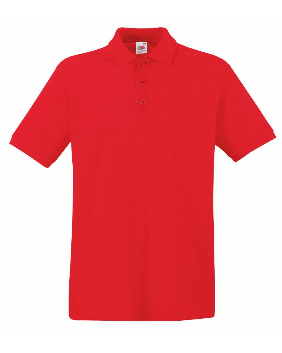 Mens-Polo-Shirts-Fruit-of-the-Loom-Premium-Polo-100-Cotton-Polo-Shirt-SS255 thumbnail 38