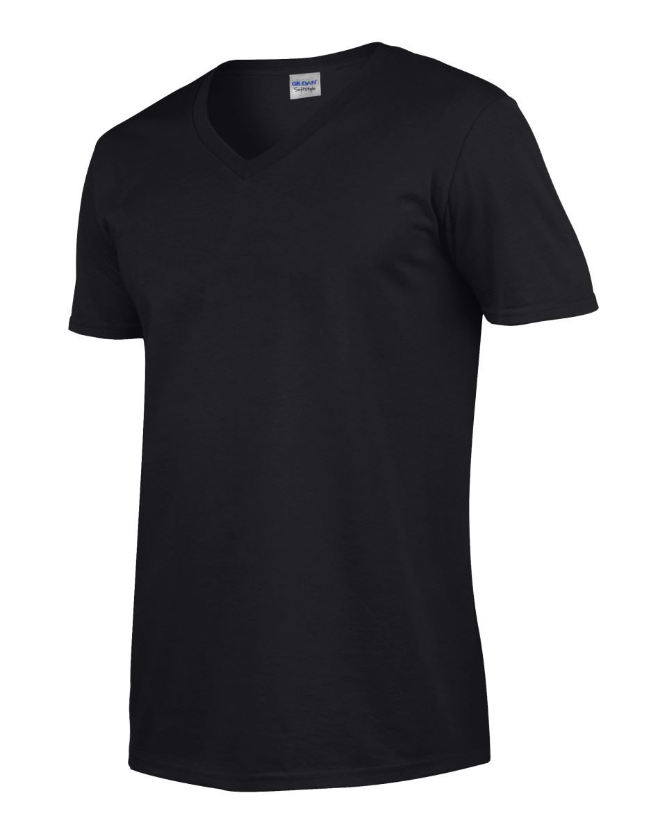 Gildan-Mens-Men-039-s-Soft-Style-Plain-V-Neck-T-Shirt-Cotton-Tee-Tshirt thumbnail 12