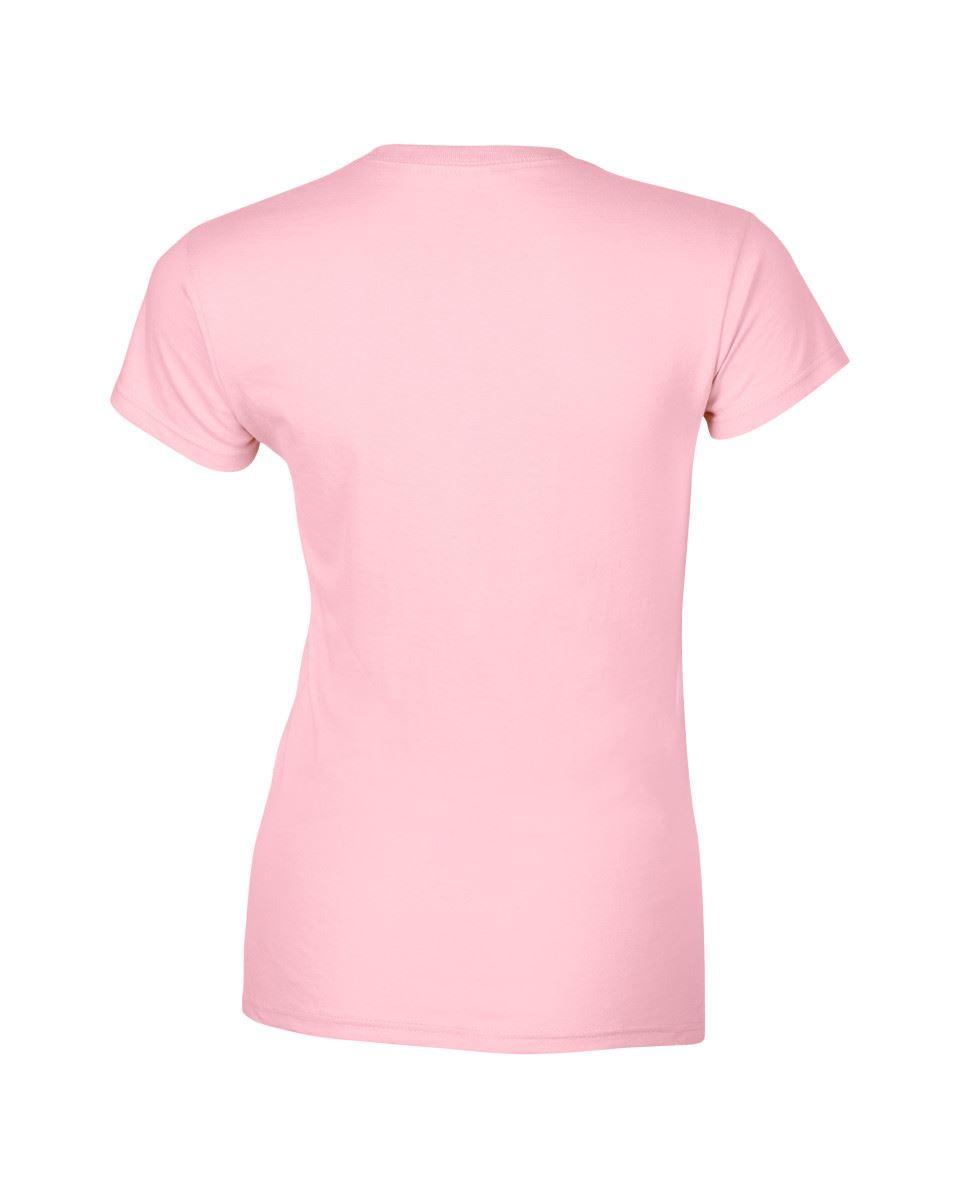 Gildan-Womens-Ladies-Soft-Style-Plain-V-Neck-T-Shirt-Cotton-Tee-Tshirt thumbnail 107