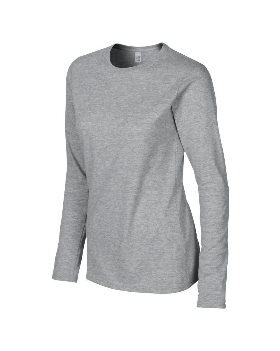 GILDAN-softsyle-Femmes-T-shirt-homme-a-manches-longues-100-Coton-Doux-Decontracte-Femme miniature 42