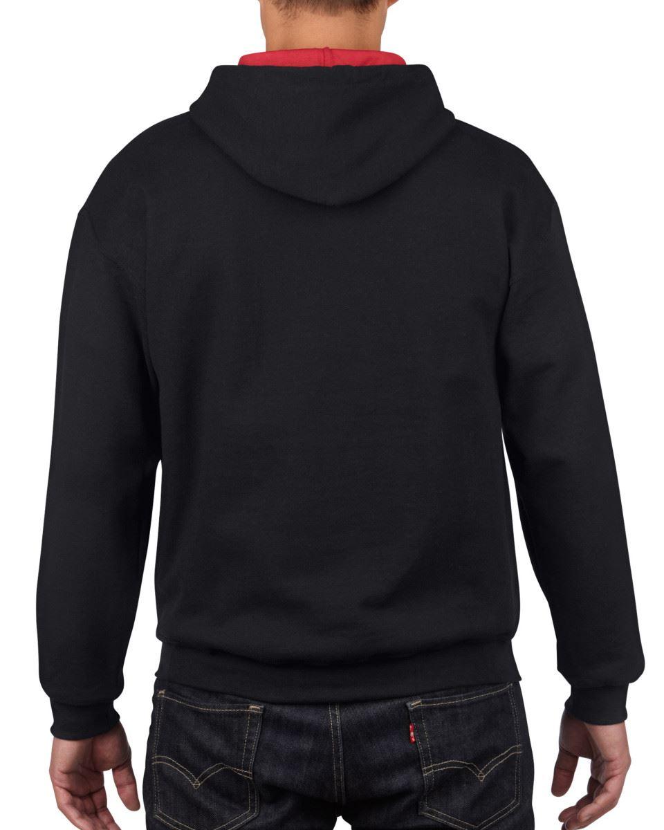 Gildan-Heavy-Blend-Plain-Contrast-Hooded-Sweatshirt-Hoodie-Sweat-Hoody-Jumper thumbnail 7