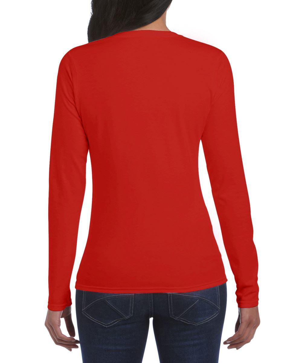 GILDAN-softsyle-Femmes-T-shirt-homme-a-manches-longues-100-Coton-Doux-Decontracte-Femme miniature 34