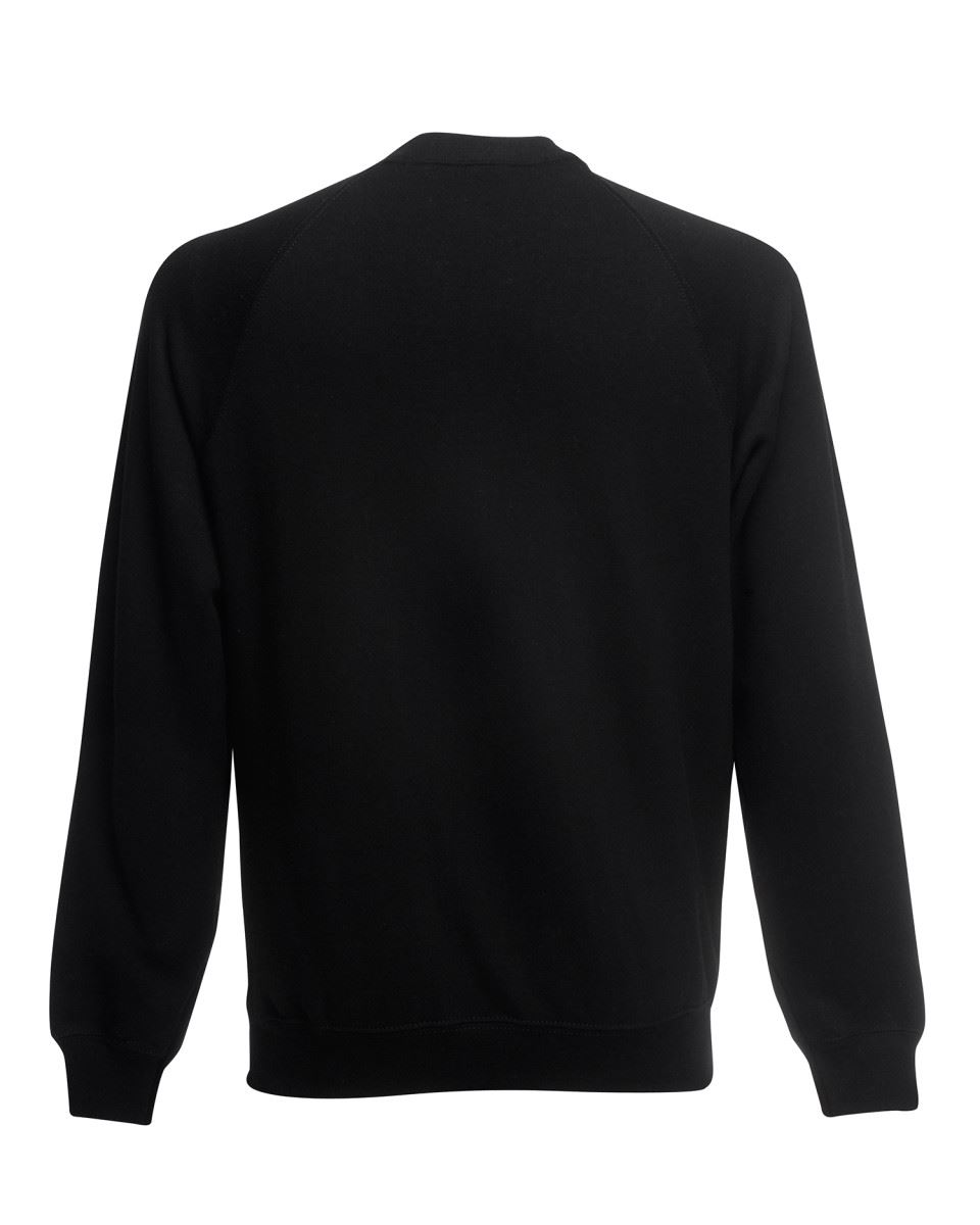 Mens-Sweatshirt-Fruit-Of-The-Loom-Raglan-Sweat-Pullover-Plain-Top-Jumper-Sweater thumbnail 3
