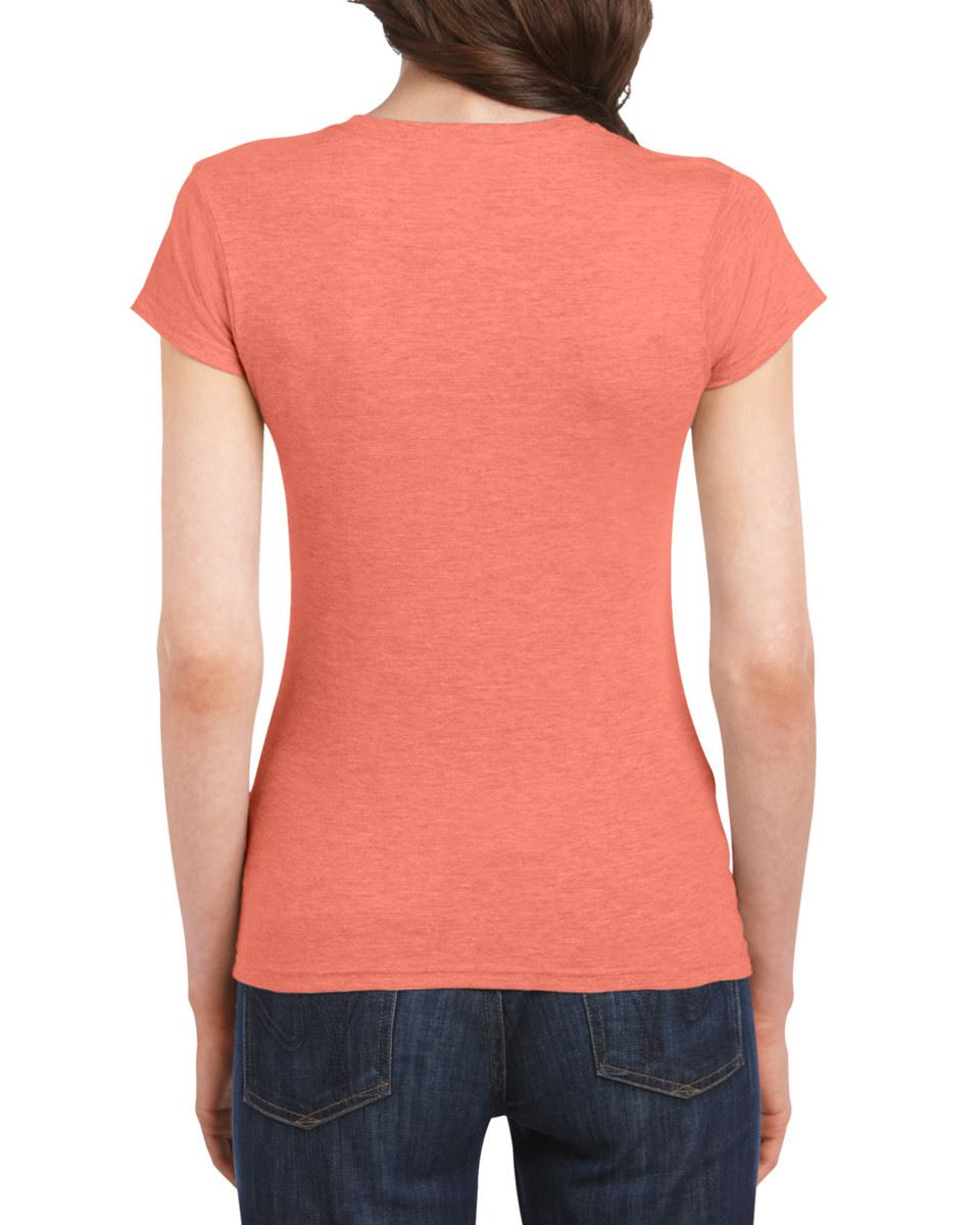 Gildan-Womens-Ladies-Soft-Style-Plain-V-Neck-T-Shirt-Cotton-Tee-Tshirt thumbnail 70