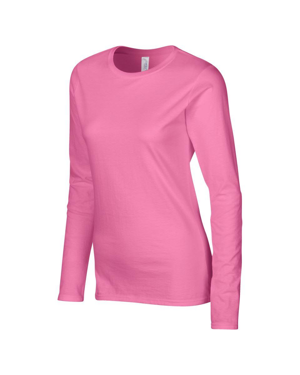 GILDAN-softsyle-Femmes-T-shirt-homme-a-manches-longues-100-Coton-Doux-Decontracte-Femme miniature 17