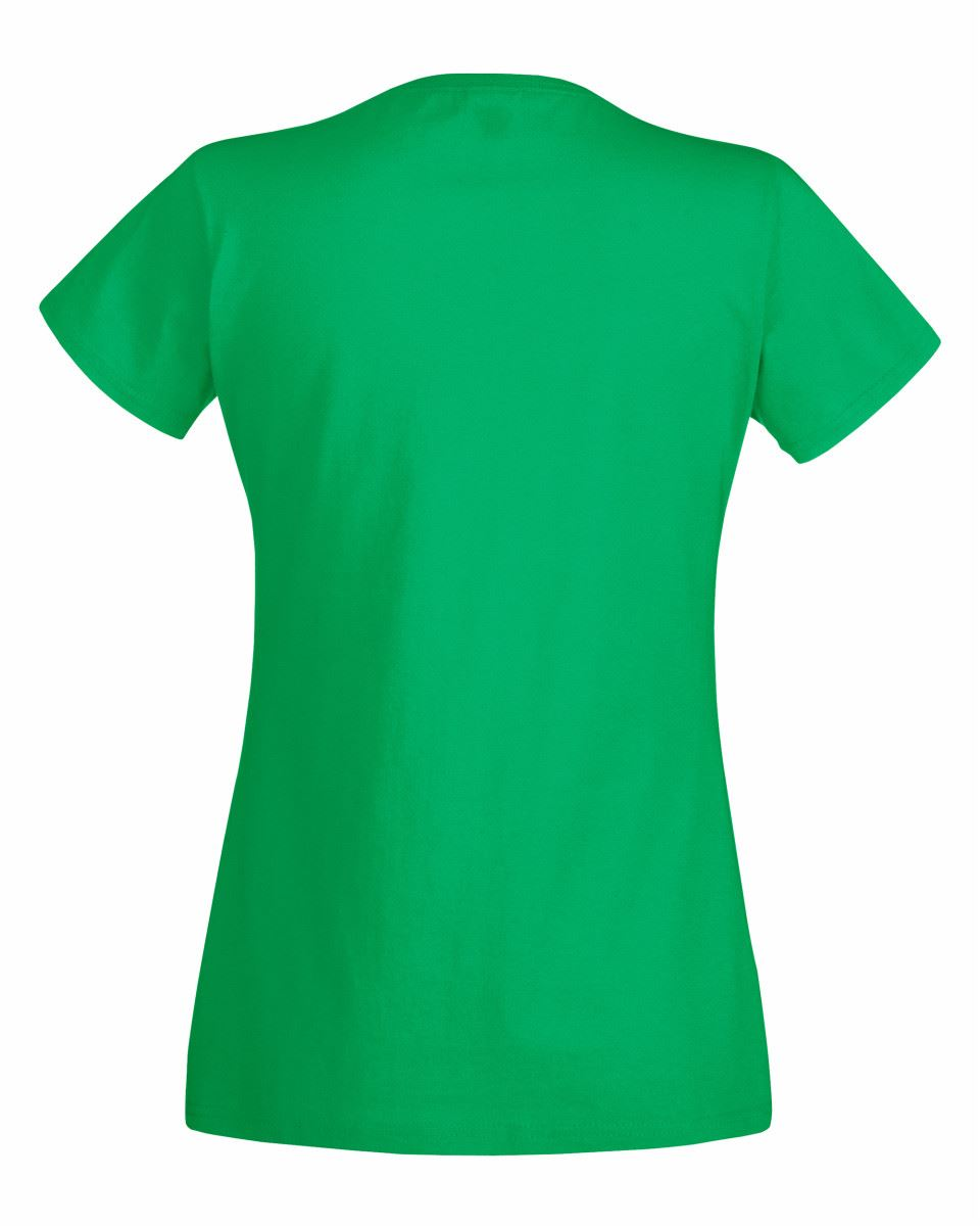 774bcae6 Fruit Of The Loom Womens Lady Fit Original Plain Rounded Neck T ...