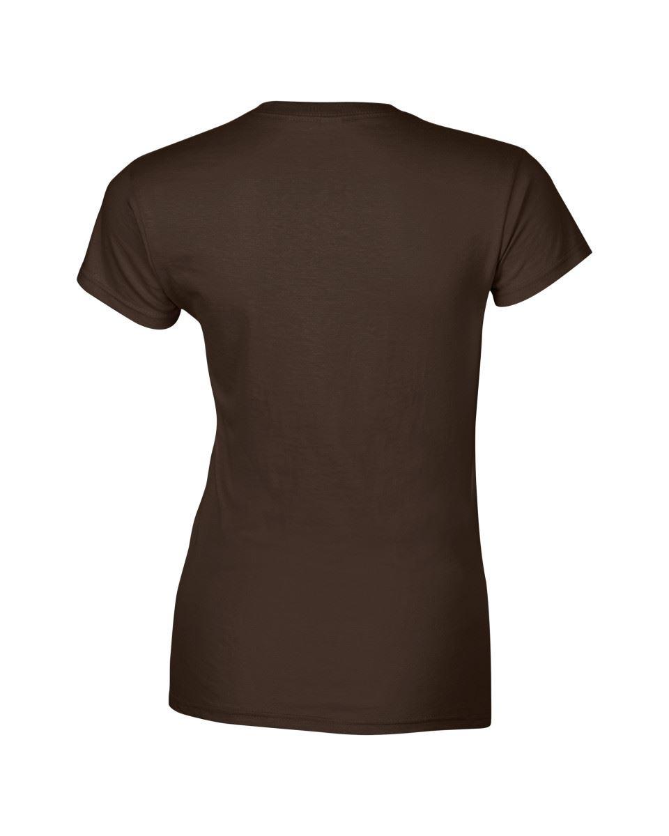 Gildan-Womens-Ladies-Soft-Style-Plain-V-Neck-T-Shirt-Cotton-Tee-Tshirt thumbnail 62