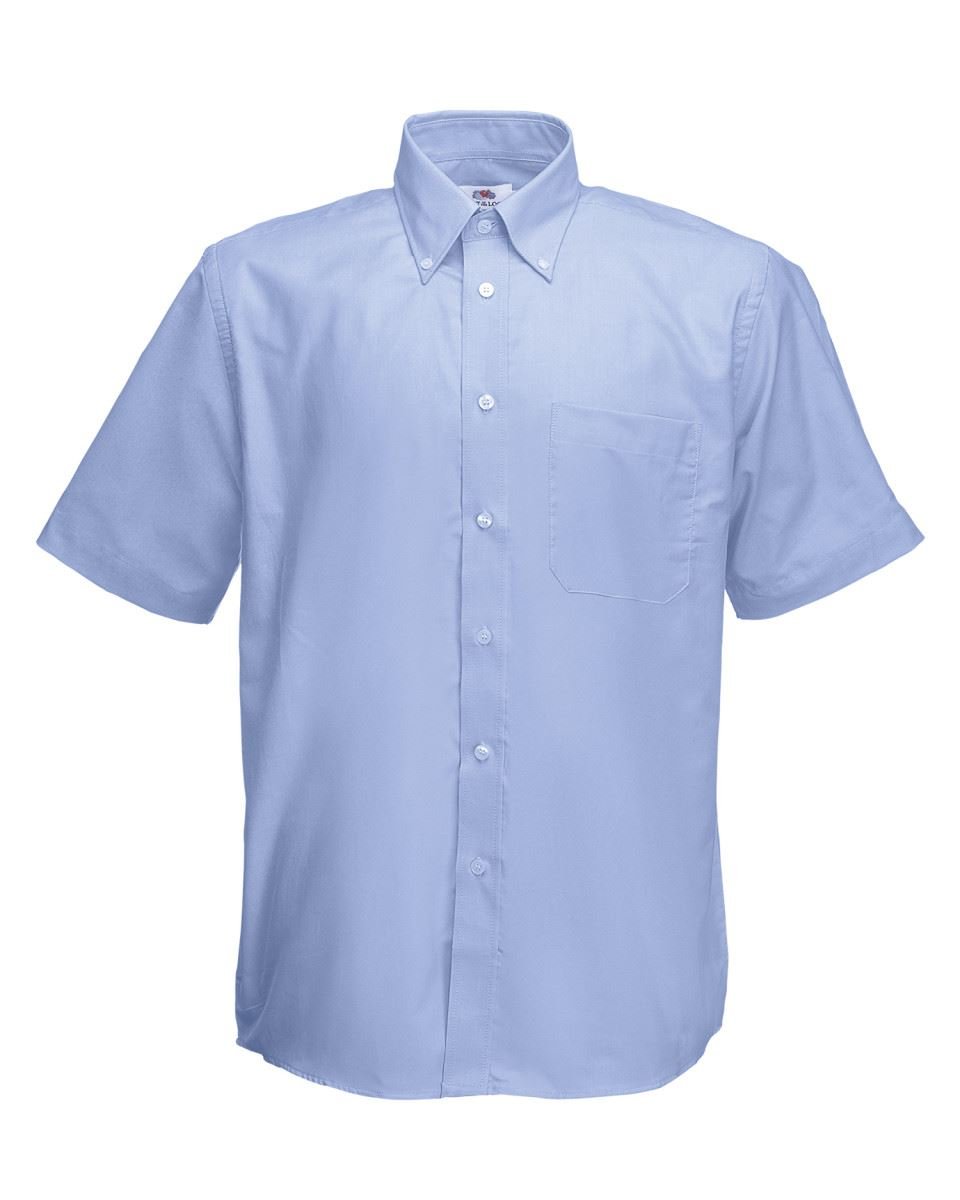 Fruit-of-the-Loom-Mens-Classic-Oxford-Short-Sleeve-Smart-Business-Work-Shirt-New thumbnail 14