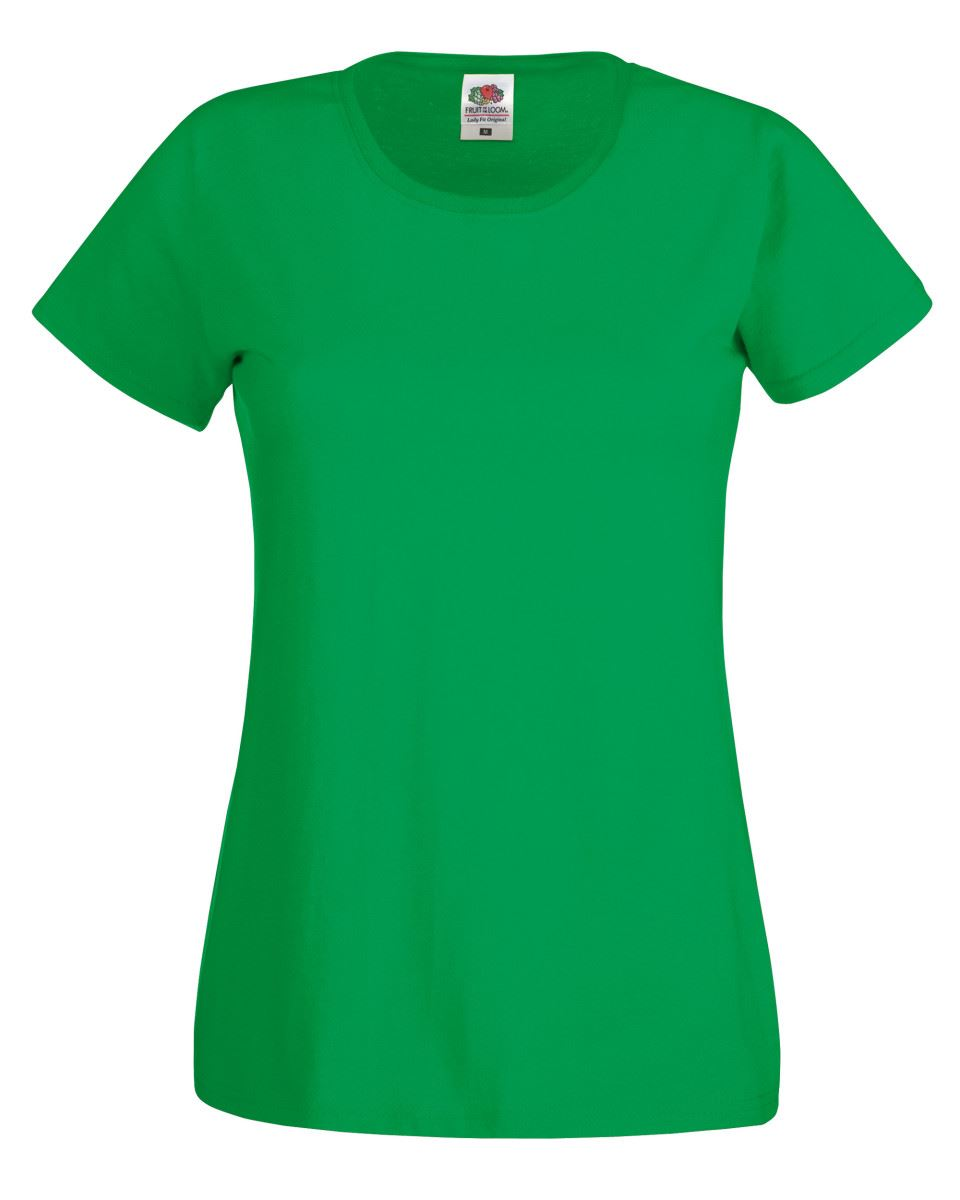 Fruit-Of-The-Loom-Womens-Lady-Fit-Original-Plain-Rounded-Neck-T-Shirt-Tee-Tshirt