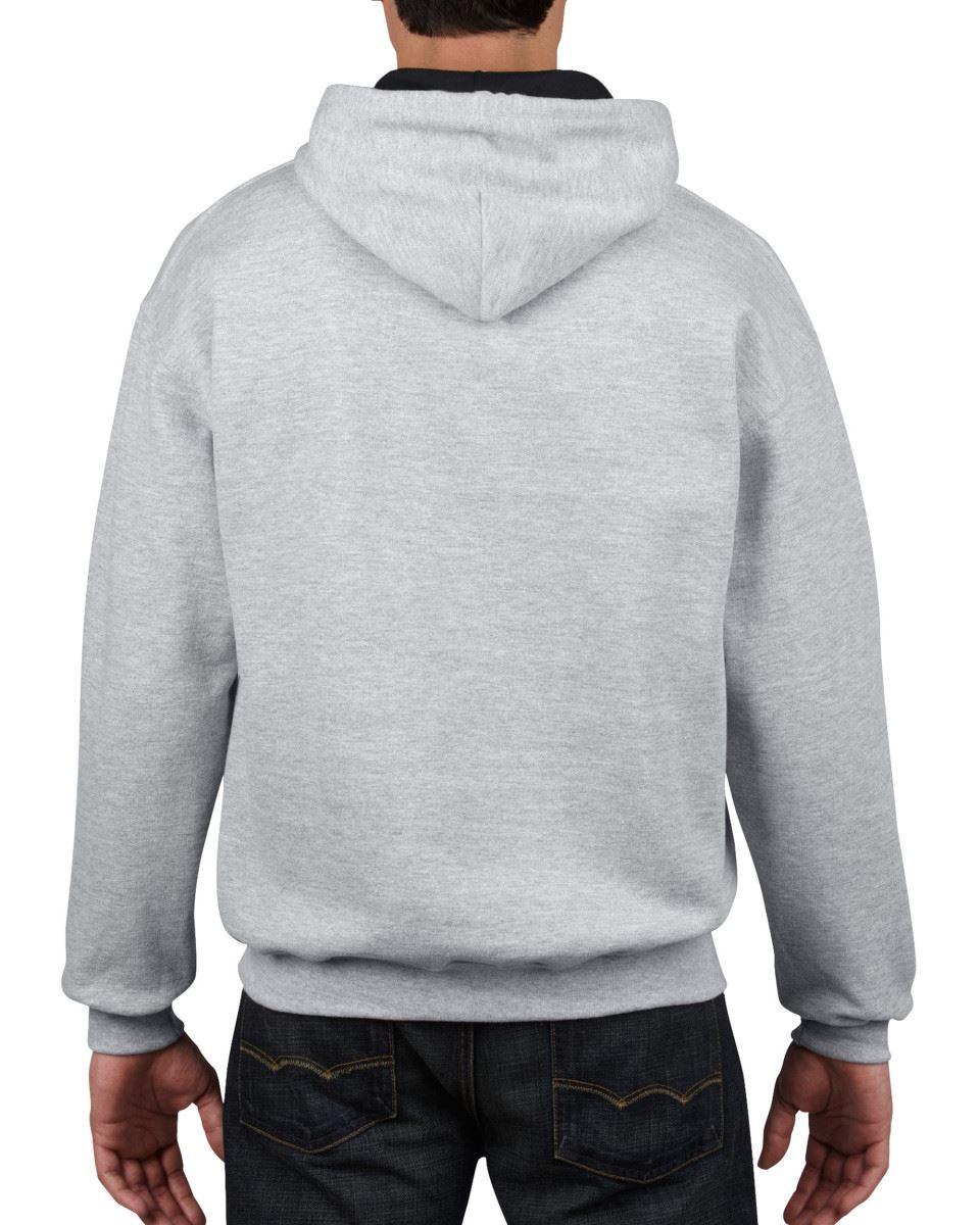 Gildan-Heavy-Blend-Plain-Contrast-Hooded-Sweatshirt-Hoodie-Sweat-Hoody-Jumper thumbnail 37