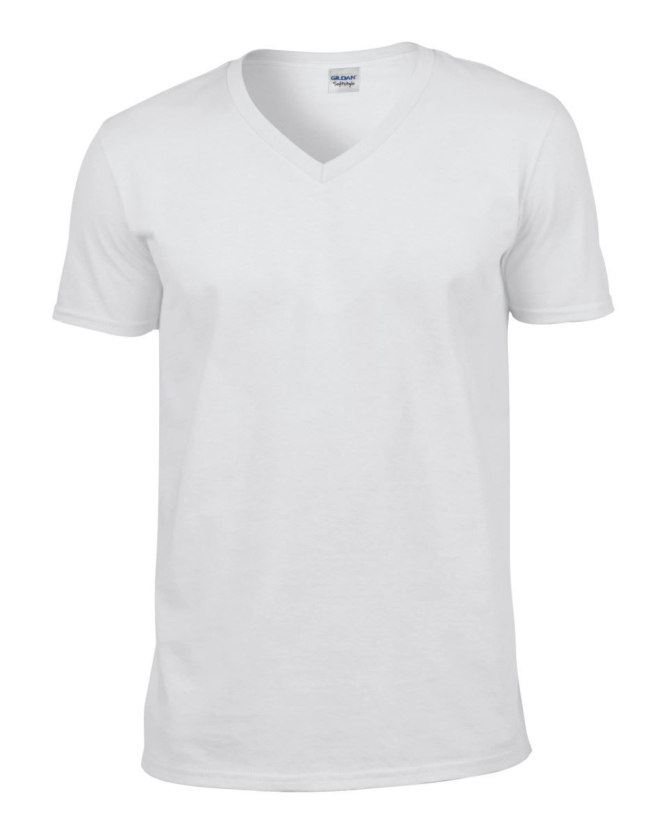 Gildan-Mens-Men-039-s-Soft-Style-Plain-V-Neck-T-Shirt-Cotton-Tee-Tshirt thumbnail 5