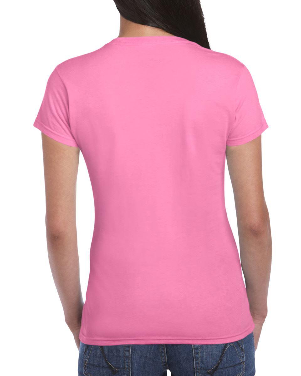 Gildan-Womens-Ladies-Soft-Style-Plain-V-Neck-T-Shirt-Cotton-Tee-Tshirt thumbnail 28