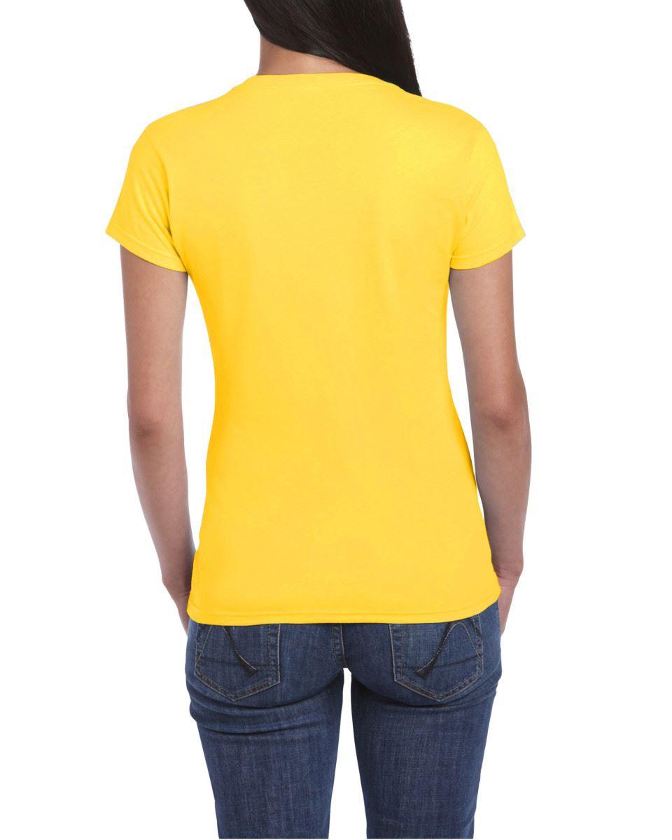 Gildan-Womens-Ladies-Soft-Style-Plain-V-Neck-T-Shirt-Cotton-Tee-Tshirt thumbnail 58