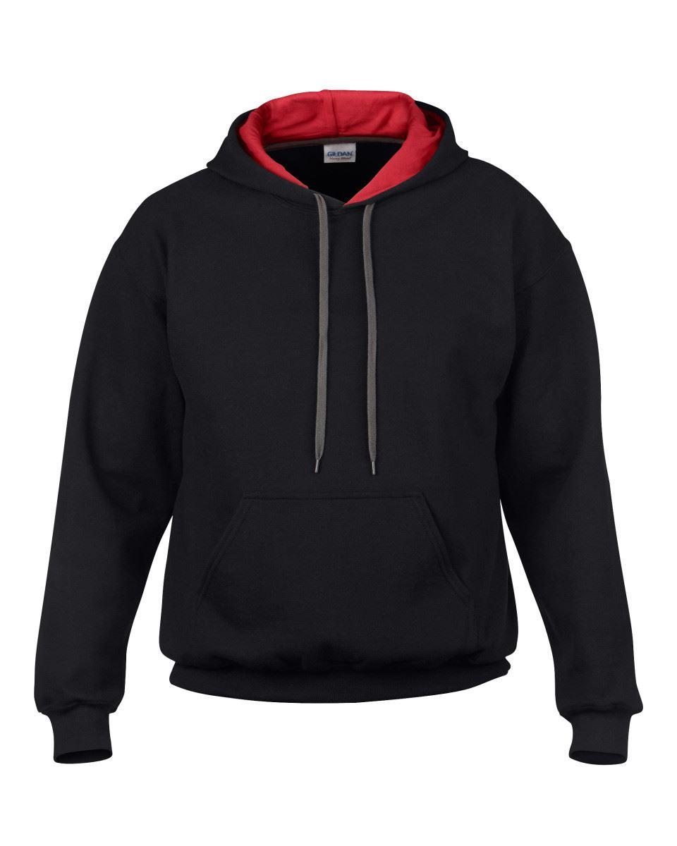Gildan-Heavy-Blend-Plain-Contrast-Hooded-Sweatshirt-Hoodie-Sweat-Hoody-Jumper thumbnail 3