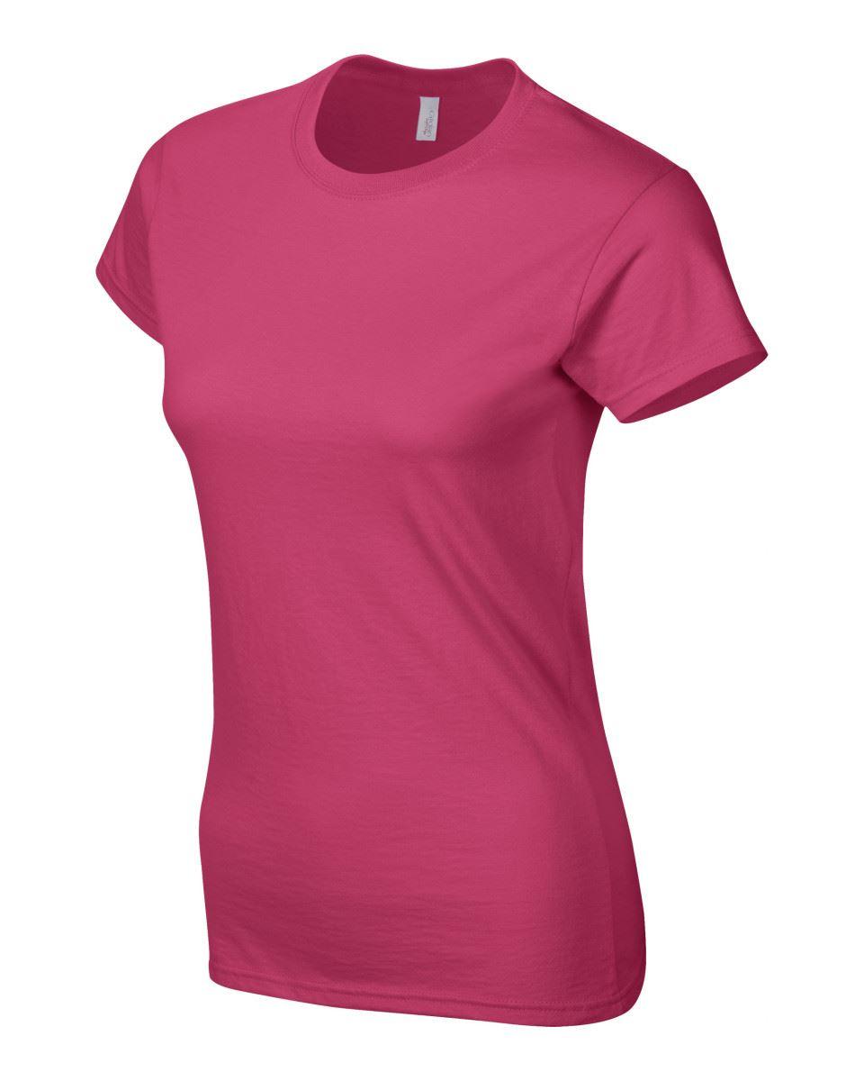 Gildan-Womens-Ladies-Soft-Style-Plain-V-Neck-T-Shirt-Cotton-Tee-Tshirt thumbnail 83