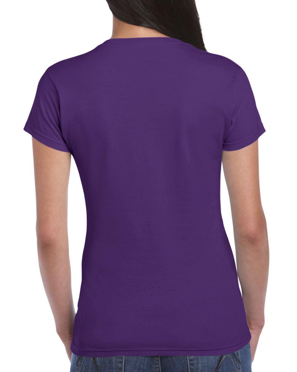 Gildan-Womens-Ladies-Soft-Style-Plain-V-Neck-T-Shirt-Cotton-Tee-Tshirt thumbnail 117