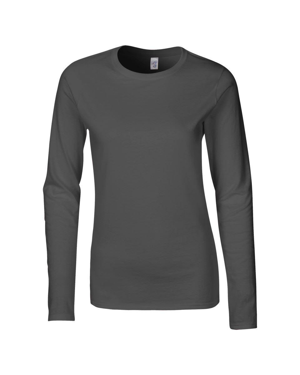 GILDAN-softsyle-Femmes-T-shirt-homme-a-manches-longues-100-Coton-Doux-Decontracte-Femme miniature 20