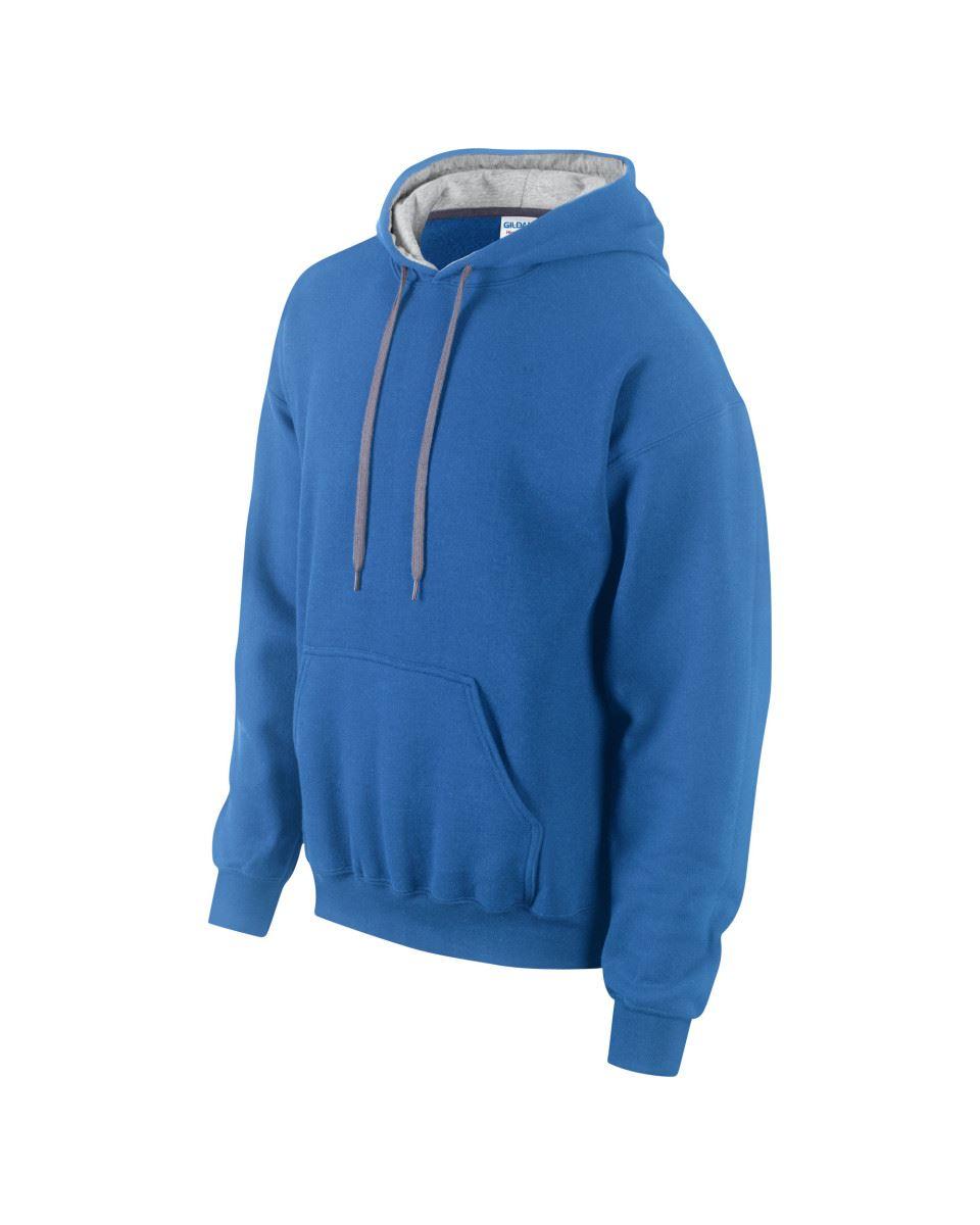 Gildan-Heavy-Blend-Plain-Contrast-Hooded-Sweatshirt-Hoodie-Sweat-Hoody-Jumper thumbnail 30