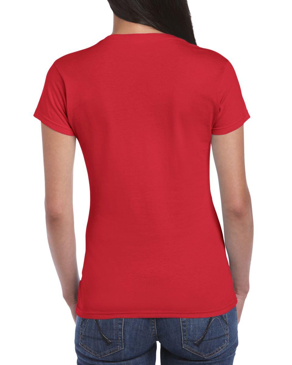 Gildan-Womens-Ladies-Soft-Style-Plain-V-Neck-T-Shirt-Cotton-Tee-Tshirt thumbnail 122