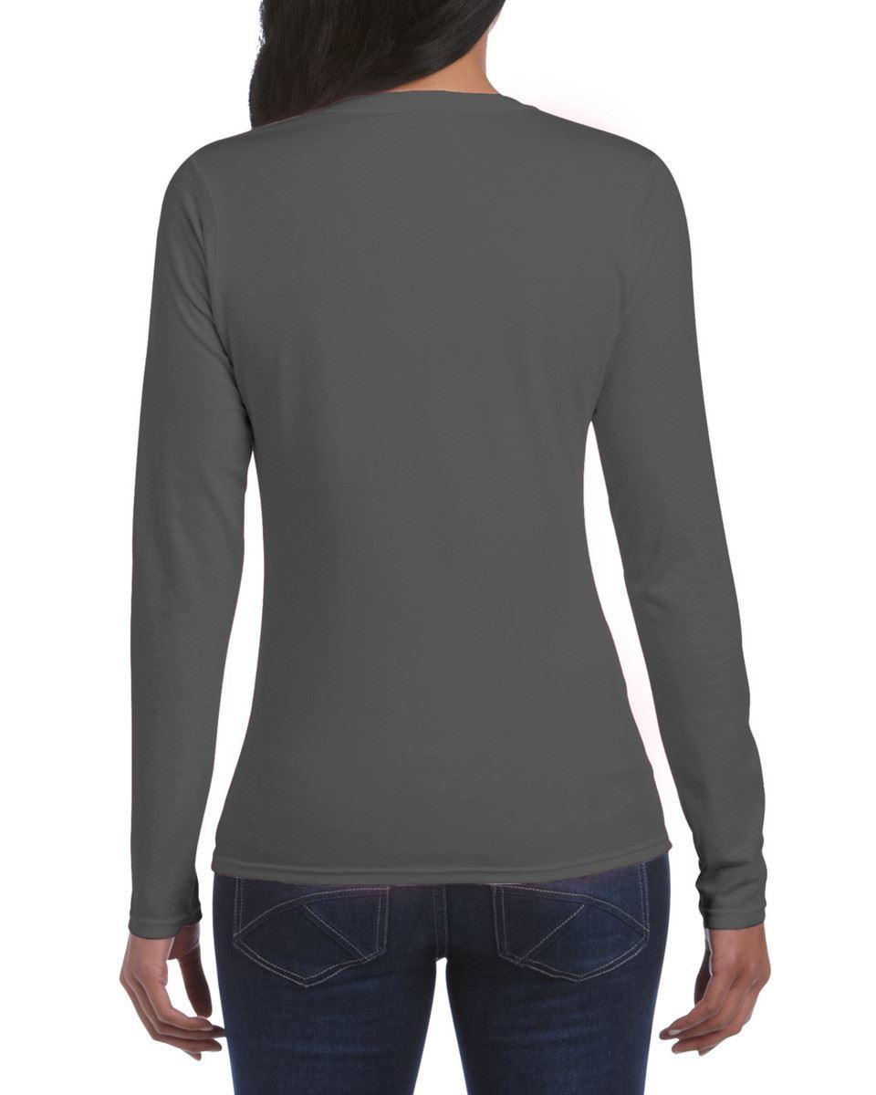 GILDAN-softsyle-Femmes-T-shirt-homme-a-manches-longues-100-Coton-Doux-Decontracte-Femme miniature 19