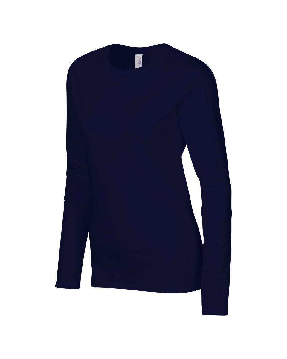 GILDAN-softsyle-Femmes-T-shirt-homme-a-manches-longues-100-Coton-Doux-Decontracte-Femme miniature 32