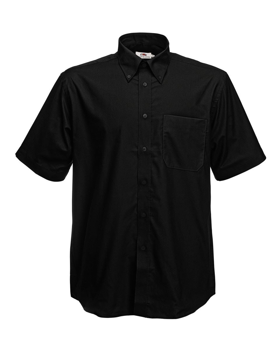Fruit-of-the-Loom-Mens-Classic-Oxford-Short-Sleeve-Smart-Business-Work-Shirt-New thumbnail 12