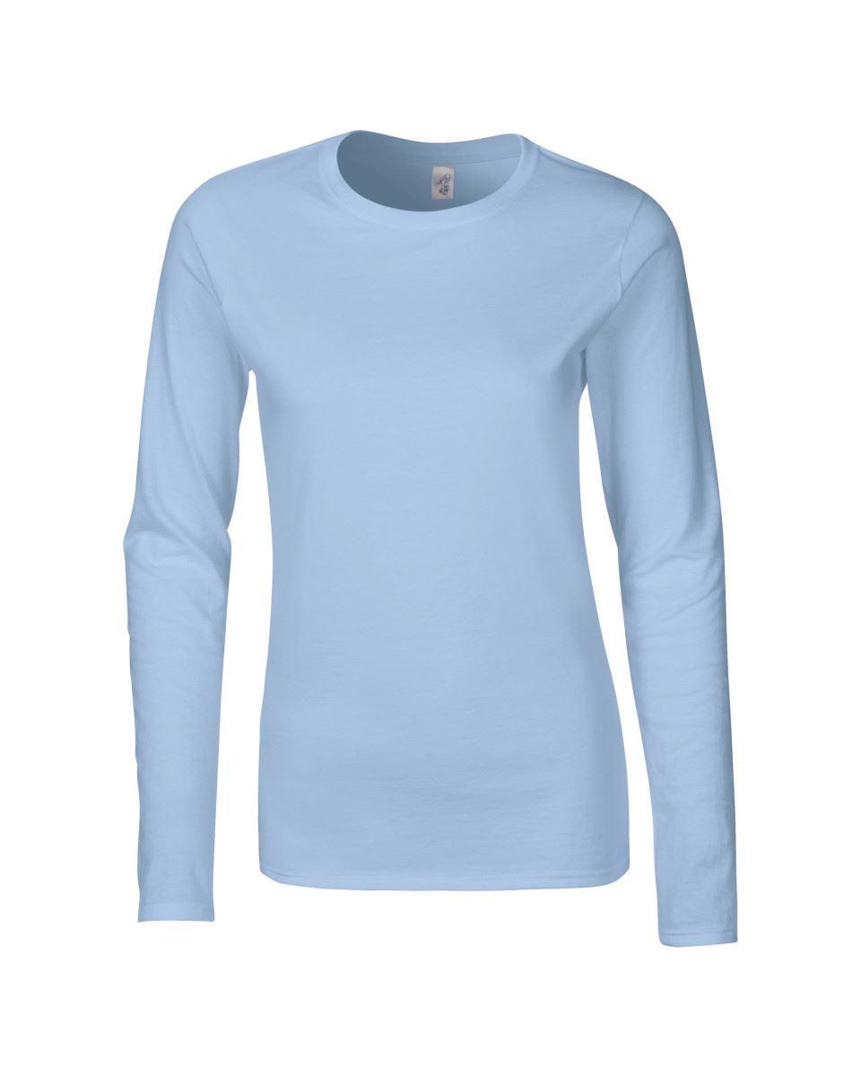 GILDAN-softsyle-Femmes-T-shirt-homme-a-manches-longues-100-Coton-Doux-Decontracte-Femme miniature 25