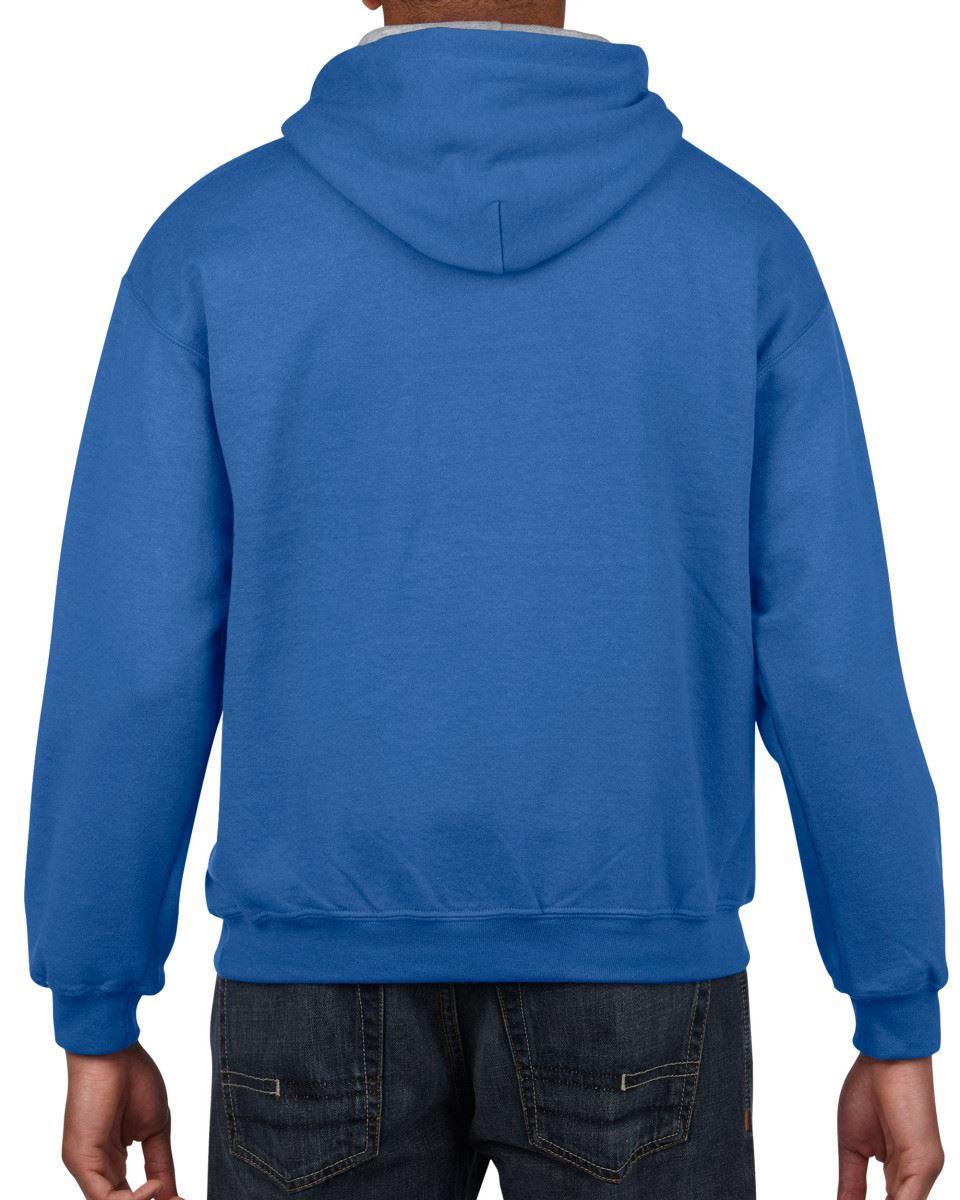 Gildan-Heavy-Blend-Plain-Contrast-Hooded-Sweatshirt-Hoodie-Sweat-Hoody-Jumper thumbnail 32