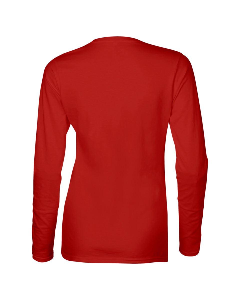 GILDAN-softsyle-Femmes-T-shirt-homme-a-manches-longues-100-Coton-Doux-Decontracte-Femme miniature 36