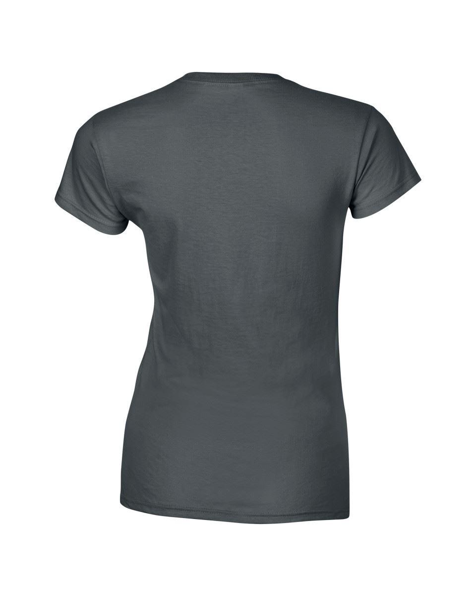 Gildan-Womens-Ladies-Soft-Style-Plain-V-Neck-T-Shirt-Cotton-Tee-Tshirt thumbnail 35