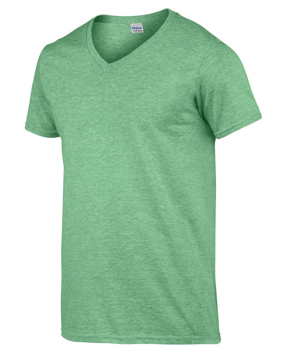 Gildan-Mens-Men-039-s-Soft-Style-Plain-V-Neck-T-Shirt-Cotton-Tee-Tshirt thumbnail 27