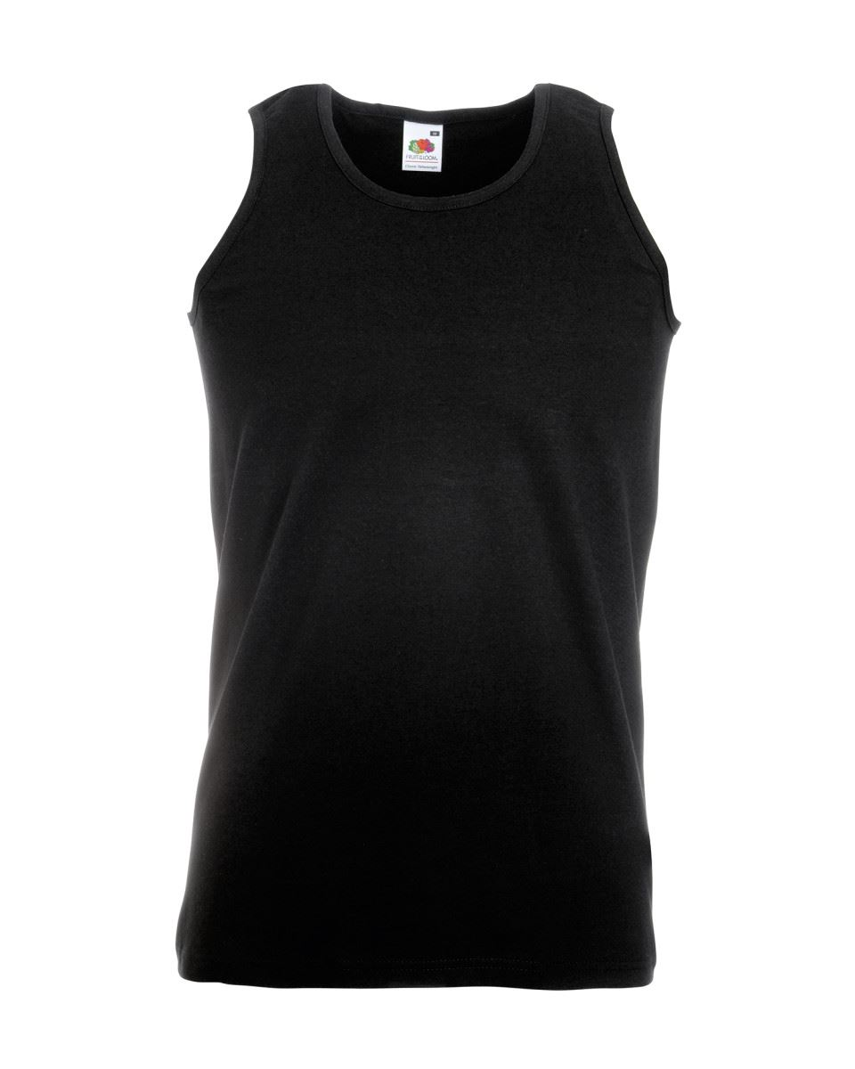 Fruit-of-the-Loom-Plain-Mens-Tank-Tops-Athletic-Vest-Gym-Training-Sports-T-Shirt thumbnail 4