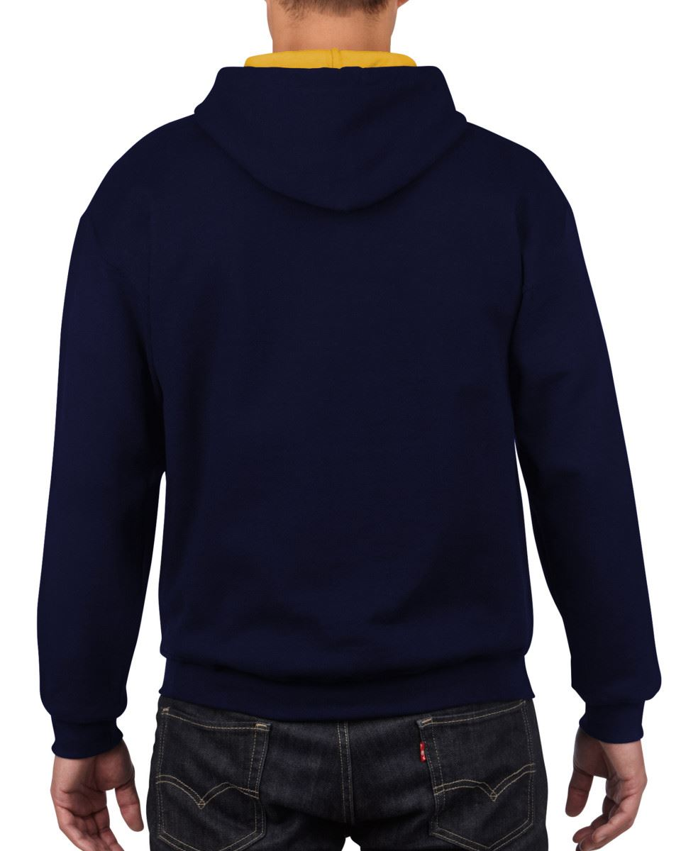 Gildan-Heavy-Blend-Plain-Contrast-Hooded-Sweatshirt-Hoodie-Sweat-Hoody-Jumper thumbnail 17