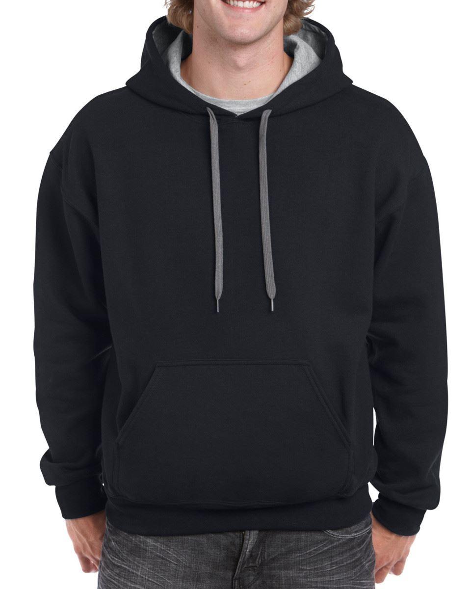 Gildan-Heavy-Blend-Plain-Contrast-Hooded-Sweatshirt-Hoodie-Sweat-Hoody-Jumper thumbnail 11