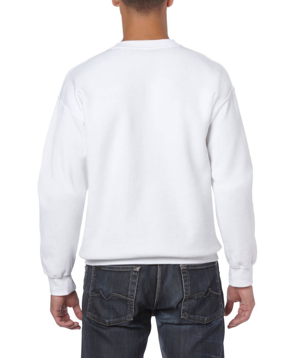 Gildan-Heavy-Blend-Adult-Crew-Neck-Pullover-Sweatshirt-Sweater-Workwear-Uniform thumbnail 4