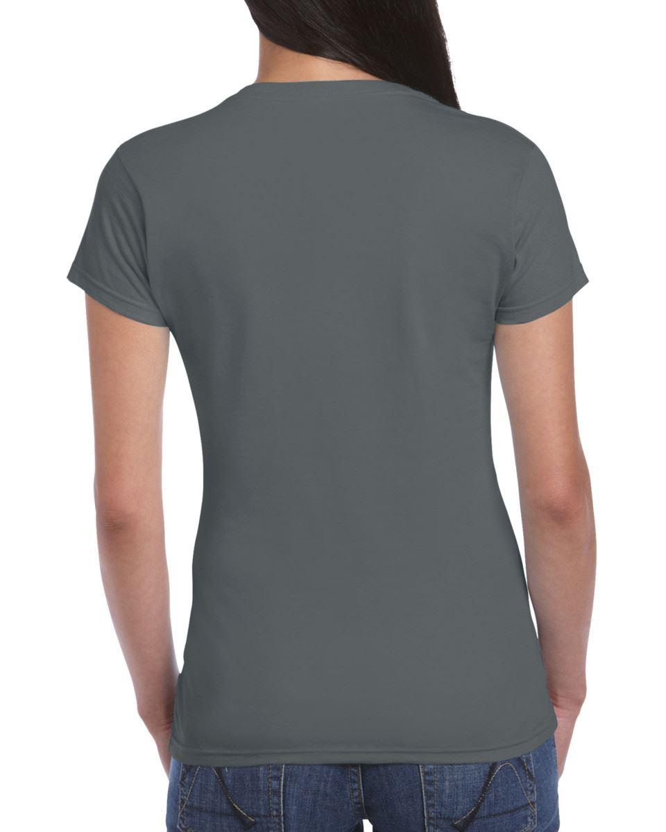 Gildan-Womens-Ladies-Soft-Style-Plain-V-Neck-T-Shirt-Cotton-Tee-Tshirt thumbnail 33