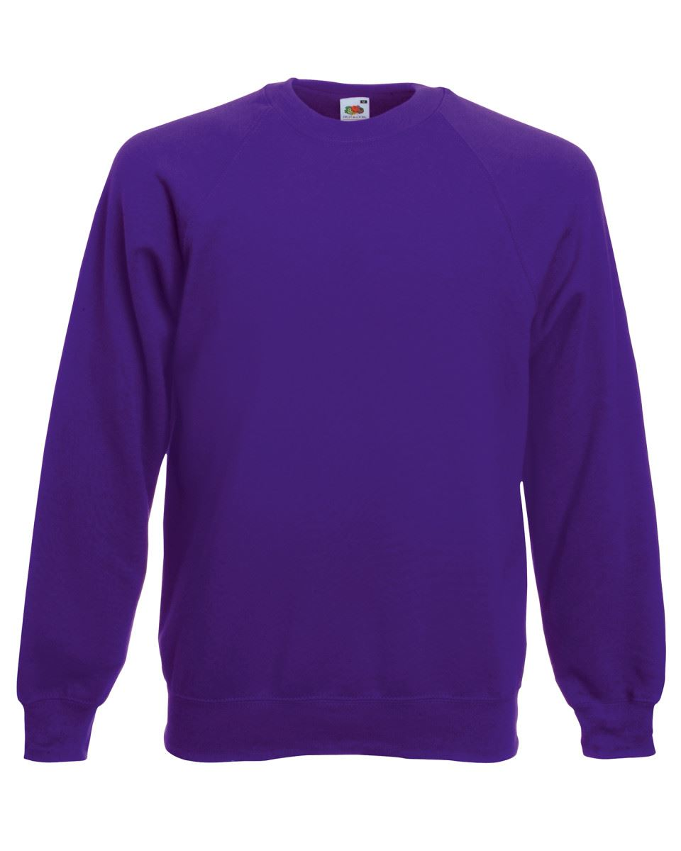 Mens-Sweatshirt-Fruit-Of-The-Loom-Raglan-Sweat-Pullover-Plain-Top-Jumper-Sweater thumbnail 26