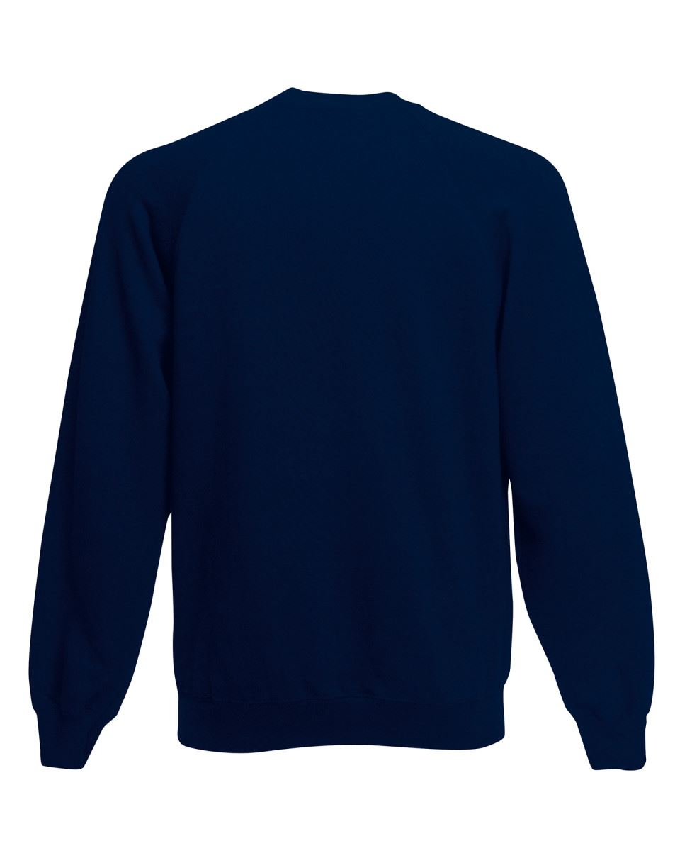 Mens-Sweatshirt-Fruit-Of-The-Loom-Raglan-Sweat-Pullover-Plain-Top-Jumper-Sweater thumbnail 21